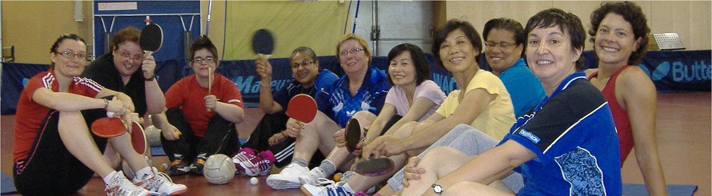 Ping au féminin le 7 décembre 2014 à Saint-Denis