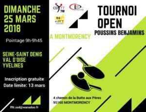 Tournoi Open des Moins de 11 Ans 2017-2018 CD78-CD93-CD95 - Affiche