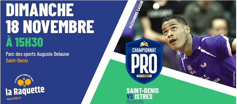 PRO A: Dimanche 18 novembre à Saint-Denis