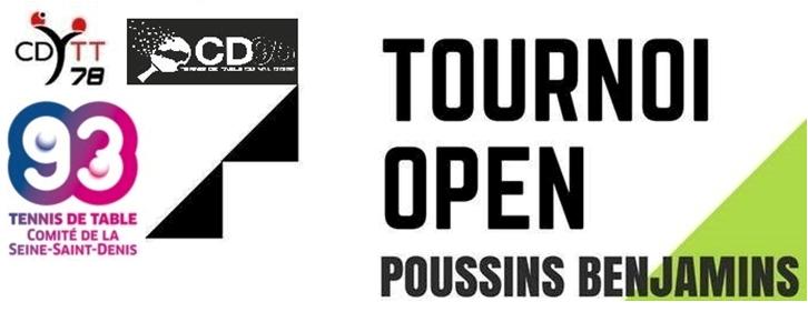 Tournoi Open Poussins – Benjamins Dimanche 31 mars