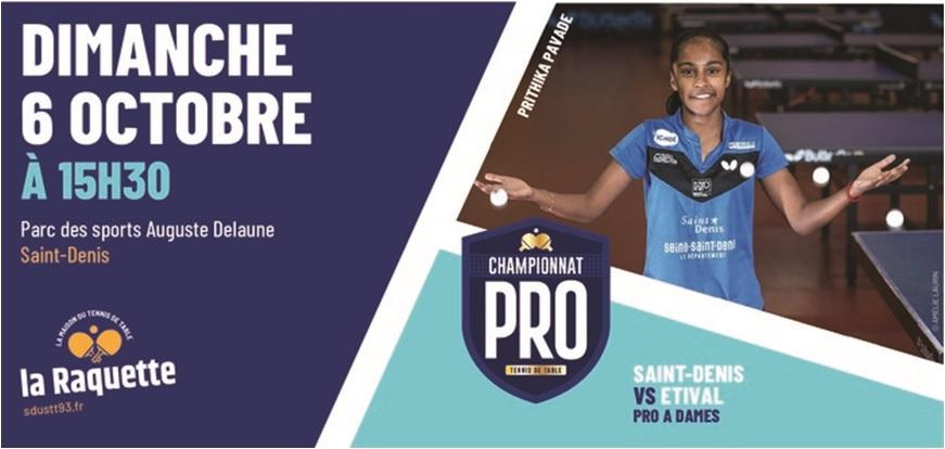PRO A: dimanche 6 octobre à Saint-Denis