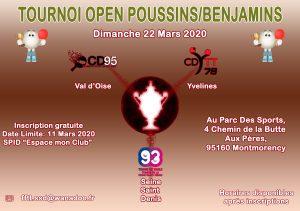 Tournoi Open Poussins-Benjamins 2019 2020 CD78-93-95 Affiche
